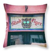 Blind Tiger Throw Pillow