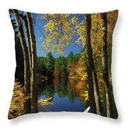 Bliss - New England Fall Landscape Hammock Throw Pillow