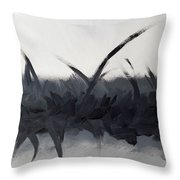 Bliss In Black Throw Pillow