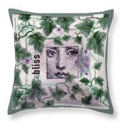 Bliss On Tile Throw Pillow
