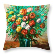 Blissful Blooms Throw Pillow