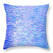 Blissful Blue Ocean Throw Pillow