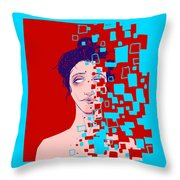 Blissful Deletion Throw Pillow