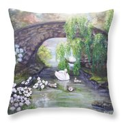 Blissful Morning Throw Pillow