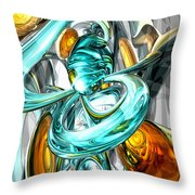 Blissfulness Abstract Throw Pillow