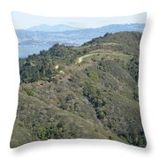 Blithedale Ridge On Mount Tamalpais Throw Pillow