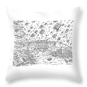 Blizzard Of Fire And Fury Throw Pillow