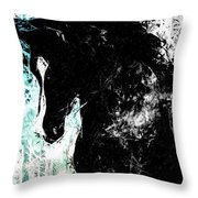 Blizzard South Of San Luis Throw Pillow
