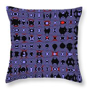 Bllue And Black Abstract #4 Throw Pillow