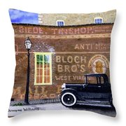 Bloch's Wall Throw Pillow