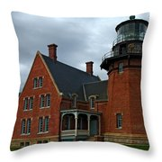 Block Island Light Throw Pillow