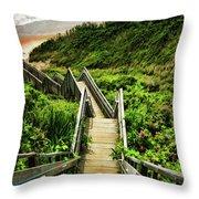 Block Island Throw Pillow by Lourry Legarde