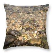Block Island Low Tide II Throw Pillow