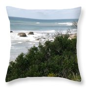 Block Island Sea Shore Throw Pillow