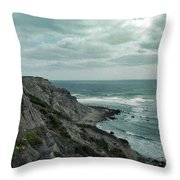 Block Island South East Lighthouse Throw Pillow