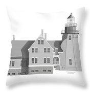 Block Island South East Rhode Island Throw Pillow