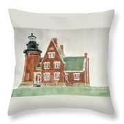 Block Island Southeast Lighthouse Throw Pillow