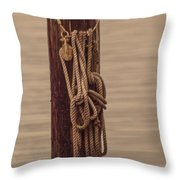Block Line And Piling Throw Pillow