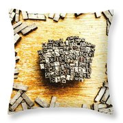 Block Of Communication Throw Pillow