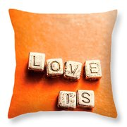 Block Quotes On Love Is All  Throw Pillow
