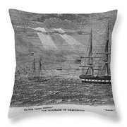 Blockade Of Charleston Throw Pillow