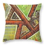Acrylic Block Art Throw Pillow