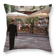 Blockhouse Throw Pillow by Guido Borelli