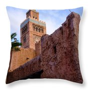 Blocks And High Tower Architecture From Orlando Florida Throw Pillow