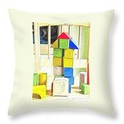 Blocks At Night Throw Pillow
