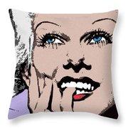 Blond Bombshell Throw Pillow