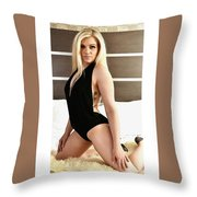 Blonde Ready Throw Pillow