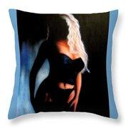 Blonde Woman Throw Pillow