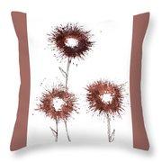 Blood Flower Throw Pillow