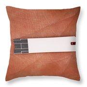 Blood Glucose Test Strip Throw Pillow