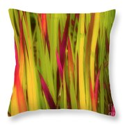 Blood Grass Throw Pillow