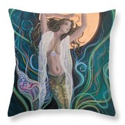 Blood Moon Goddess  Throw Pillow
