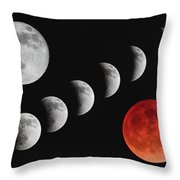 Blood Moon Of The Tetrad Throw Pillow