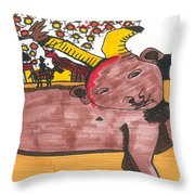 Blood Of The Bull Throw Pillow