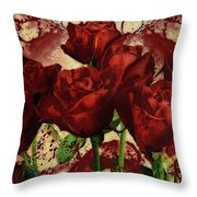 Blood Red Lust Throw Pillow
