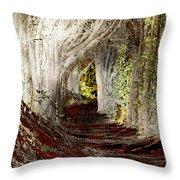 Blood Redwoods Throw Pillow