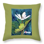 Blood Root Throw Pillow