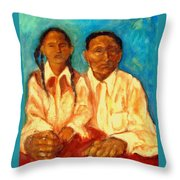 Blood Ties Throw Pillow