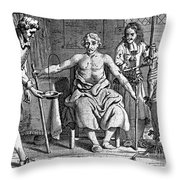 Blood Transfusion From Dog To Man, 1692 Throw Pillow
