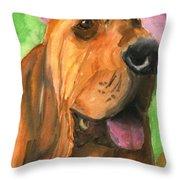 Bloodhound Dog Art Throw Pillow