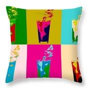 Bloody Mary Pop Art Panels Throw Pillow