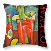 Bloody Mary Poster Throw Pillow