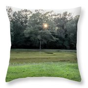 Bloody Pond Shiloh National Military Park Tennessee Throw Pillow