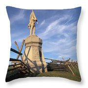 Bloody Road With A Statue Throw Pillow