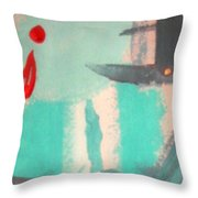 Bloody Tears In Spring Throw Pillow