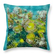 Bloom In Vintage Ornate Style Throw Pillow